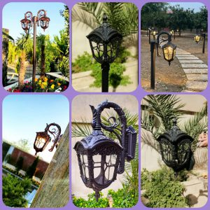 سفارش عمده و جزئی ارزان ترین پایه چراغ های باغی